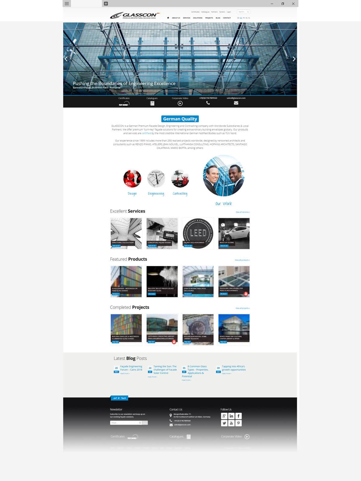 工程设计与承包建筑公司英文网站