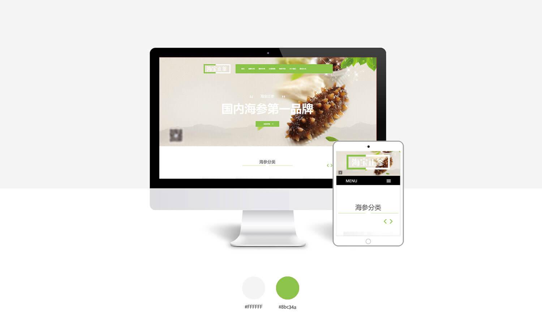 公司网站模板,海参网站模板