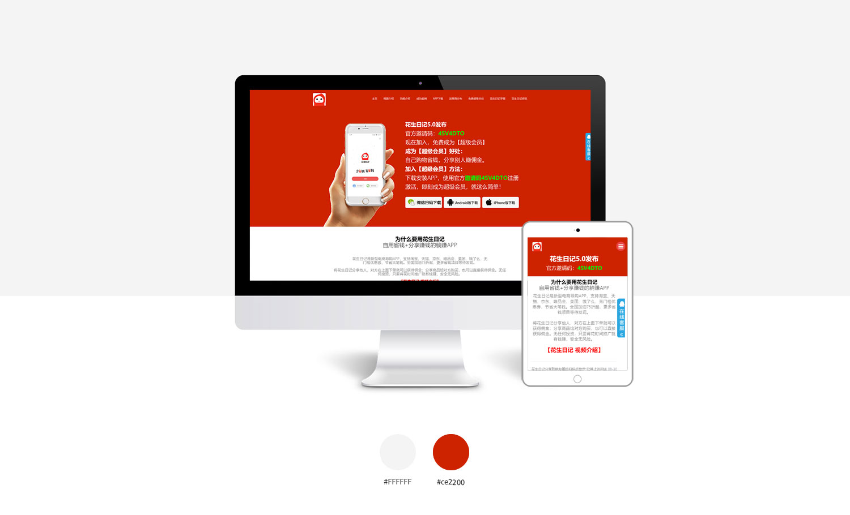 行业网站模板,电商导购网站