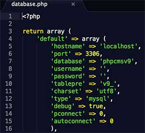 phpcms调用数据库